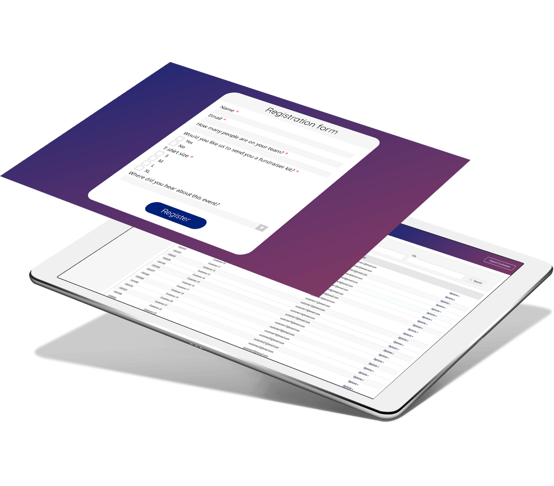 Online event registration form that works seamlessly on mobile devices