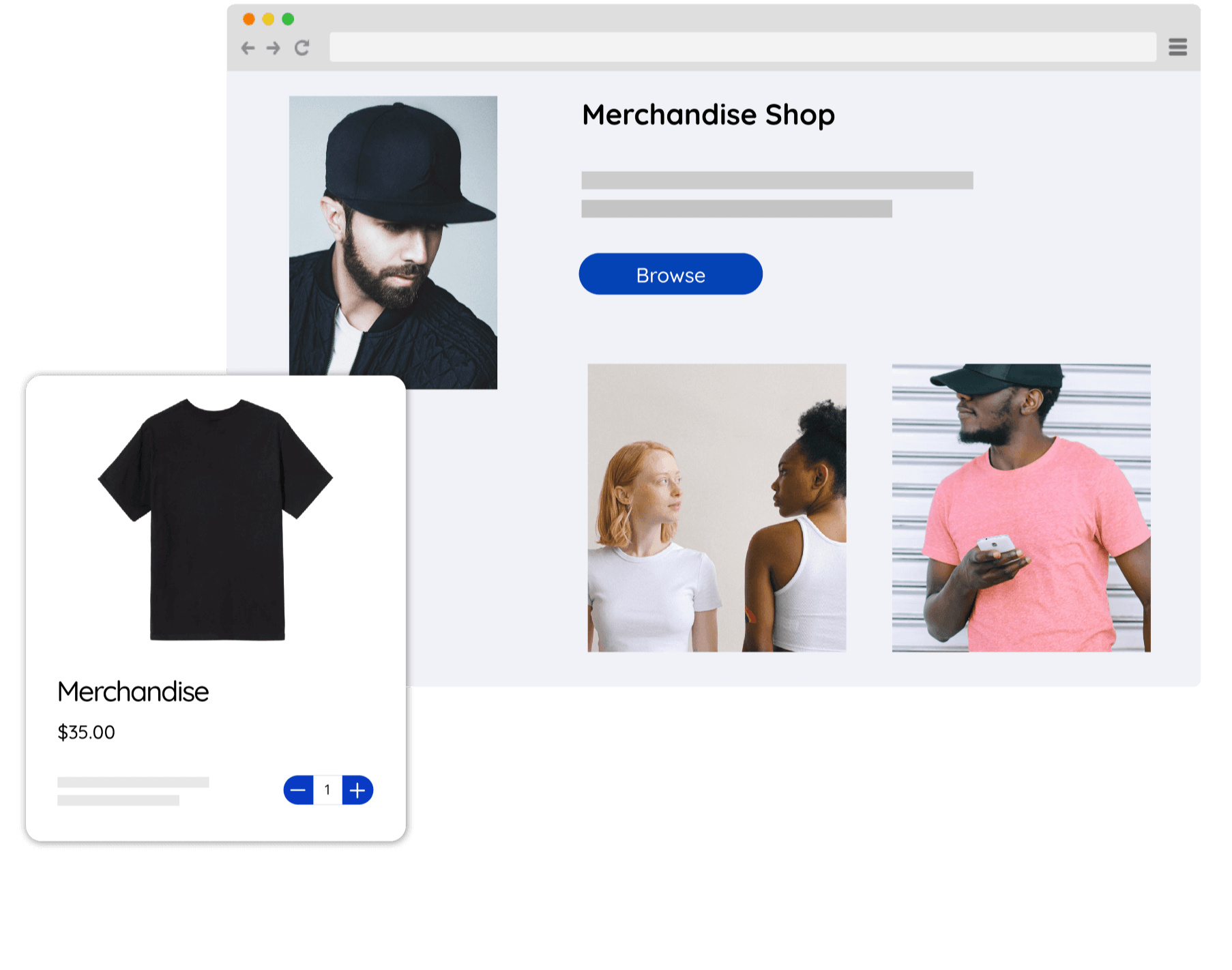 Launch your online store and begin selling immediately.